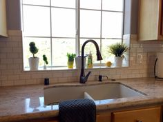 Subway Kitchen Backsplash Around Window Google Search Kitchen