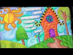 the Frugal Crafter Lindsay Weirich - whimsical landscape zentangle tutorial; time 27:09; Sept 7, 2014  NTS: Lindsay used micron pens, watercolor and regular color pencils to create the depth
