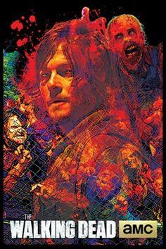 The Walking Dead Blacklight Daryl Poster