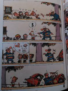 Deze is nog een strip die een grappig tafereel laat zien.