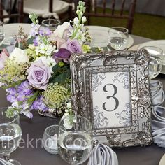 idea for table numbers for reception