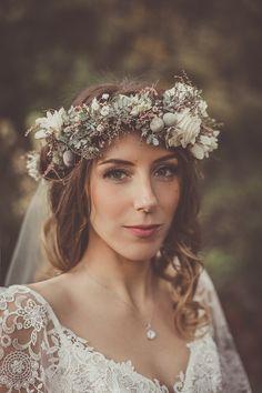 Blumenkranz in natürlichen Farben – natural and rustic flower crown