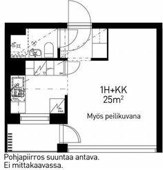 Vuokrataan kerrostalo Yksiö - Helsinki Etelä-Haaga Vanha viertotie 8