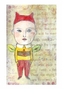 Bombeck Work,  collage, original, painting, gouache