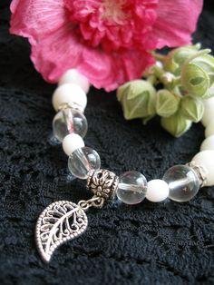 Glass & White bracelet