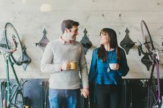 modern couple engagement photography