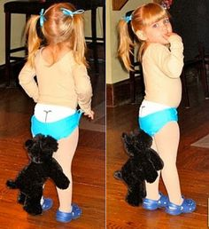 If I ever have a little girl...I will be real tempted to do this. To cute and at the same time funny!