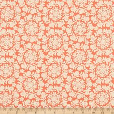 Michael Miller Strawberry Moon Petit Henna Garden Coral from @fabricdotcom Designed by Sandi Henderson for Michael Miller Fabrics, this cotton print collection features gorgeous saturated prints that are perfect for quilting, apparel, and home decor accents. Colors include orange and cream.