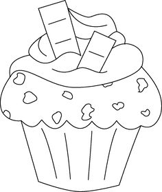 Risultati immagini per dibujos para colorear cupcakes Cupcake Coloring Pages, Coloring Book Pages, Coloring Sheets, Cute Little Drawings, Art Drawings For Kids, Embroidery Patterns, Hand Embroidery, Cupcake Drawing, Christmas Doodles