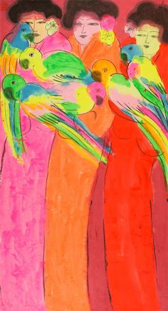 ℛ.Walasse Ting (Chinese: 丁雄泉, October 13, 1929 – May 17, 2010) was a Chinese-American visual artist and poet. His colorful paintings have attracted critical admiration and a popular following. Common subjects include nude women and cats, birds and other animals.