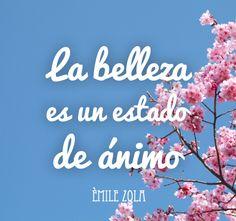 """Como dice el escritor francés Èmile Zola: """"La belleza es un estado de ánimo"""" #belleza #zola #frase"""