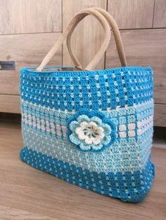 Crochet Basket Jute Ah Tas Ideas Stitch Ears, Crochet Baby Cocoon, Crochet Market Bag, Craft Bags, Crochet Purses, Crochet Bags, Tapestry Crochet, Bead Crochet, Knitted Bags