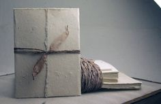 hand torn wedding invitations   Handmade Seed Paper Invitation Kit - 6x9 Natural Seeded DIY Wedding ...
