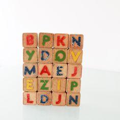 Vintage  20 Antique Children's Alphabet Blocks by 1499vintage, $25.00