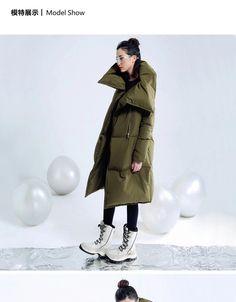 Puffy Jacket, Sweater Jacket, Winter Wear, Autumn Winter Fashion, Snow Outfit, Oversized Coat, Down Coat, Mode Inspiration, Outerwear Women