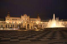 Plaza de España. Sevilla. España.  Foto de J.M. Portillo