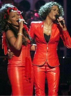 Mary J Blige and Whitney Houston