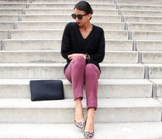 classics with a leopard heel