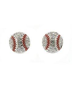 Baseball Earrings by sjrhinestone on Etsy, $8.00