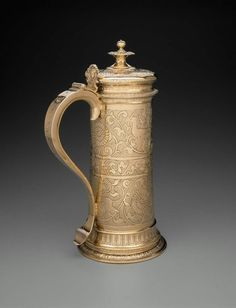 Flagon. English (London). John Acton, 1607–08. Silver gilt