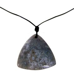 Personalized Gray Howlite Triangle Stone Necklace - Create A Favor