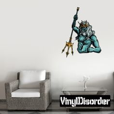 Greek God Poseidon Wall Decal - Vinyl Car Sticker - Uscolor016