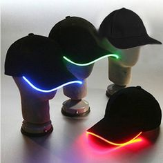 Check these LED baseball caps out! Will you be wearing one when you runthenight?