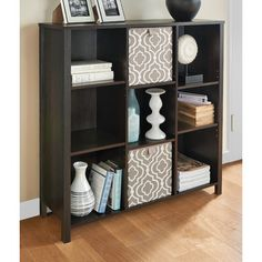 Features:  -Premium collection.  -Material: Premium wood grain laminate with texture emboss.  -Decorative post legs, inset side panels and full back panel.  Product Type: -Cube unit.  Style: -Contempo
