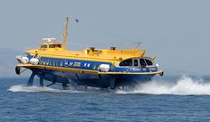 "Passenger hydrofoil, ""Flying Dolphin Zeus"", moving at high speed near Piraeus, Greece"