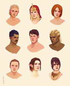 Dragon Age character portraits