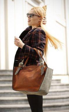 Leather Shoulder Bag with Clutch Set ladybuq art design door ladybuq