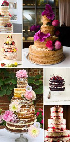 I love naked wedding cakes.