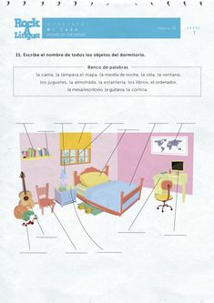 Download this 21 page-long worksheet about rooms of the house in Spanish. It's FREE!