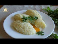 Galuste de gris pufoase ~ ReteteAngela Romanian Food, Cornbread, Cooking Tips, Risotto, Cauliflower, Grains, Rice, Vegetables, Ethnic Recipes