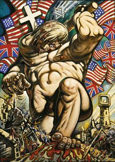 Peter Howson - Crusader He is excellent at conveying the monstrous hegemony of the western culture. Modern Artists, Contemporary Artists, Peter Howson, Communication Theory, Expressive Art, Art Pictures, Westerns, Figure Studies, Fine Art