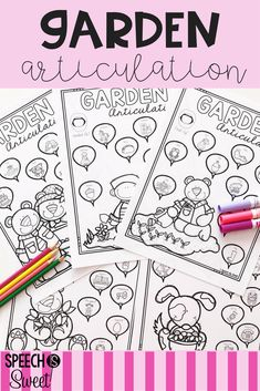 Garden Articulation! This no prep packet is perfect for spring or summer speech therapy! It addresses early sounds and later sounds in the initial, medial, and final positions. It also covers /l/ blends, /r/ blends, and /s/ blends!