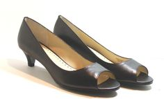Adrienne Vittadini Concord Kitten Heel Pump Shoes,  Black, Leather, Size 8.5 M #AdrienneVittadini #KittenHeels http://stores.ebay.com/ECLECTIC-GOODIES-EG