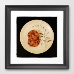 Two Chocolate Chip Cookies Framed Art Print