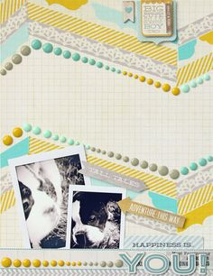 Tina Walker.  See Embellishments Board to see how to make dots