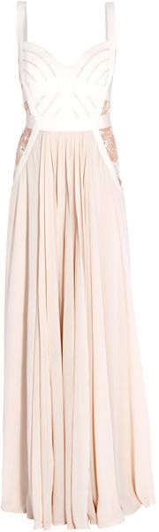 Elie Saab Beige Bandeau Strap Gown http://www.pinterest.com/meaghanlee227/what-shall-i-wear/
