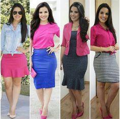 Look por @paaolasantanaa - Usando e abusando do Pink, inspirações de look com rosa, rosa e azul, camisa jeans, estampas preto e branco - Crente chic, garotas cristã, menina evangélica