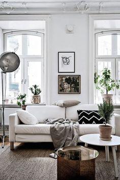 Un mini apartamento que parece mucho más grande de lo que es #hogarhabitissimo #nordic #organic