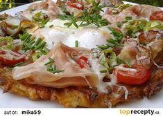 Zapečený bramborák recept - TopRecepty.cz No Salt Recipes, What To Cook, Vegetable Pizza, Baked Potato, Ham, Potato Salad, Mashed Potatoes, Food And Drink, Menu