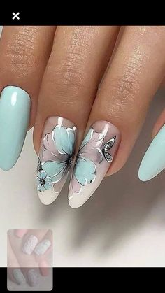 Make an original manicure for Valentine's Day - My Nails Beautiful Nail Art, Gorgeous Nails, Pretty Nails, Flower Nail Designs, Nail Art Designs, Hair And Nails, My Nails, Chic Nails, Flower Nails