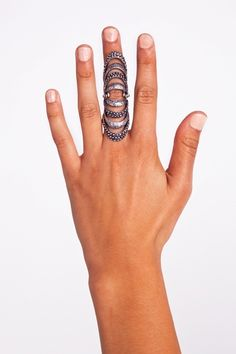caged knuckle ring