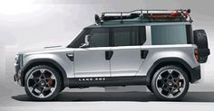 Double Cab Station Wagon - Land Rover Defender concept - modified with new front end, added Land Rover ruggedness New Land Rover Defender, New Defender, Landrover Defender, Royce, Ford, Jaguar, Automobile, Offroader, Jeep Suv