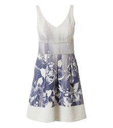 Βραδινό φόρεμα με floral τύπωμα με lurex