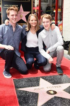 Jodie Foster with sons Charles & Kit 2016