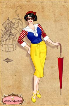 50's Dress - Snow White - #SommerTime #Disney #Princess