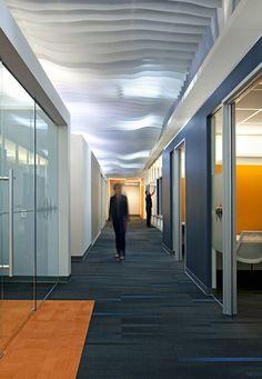 Solutions   Ceiling Systems   Atmosphera 3D by ARKTURA - Office corridor in Santa Cruz, CA